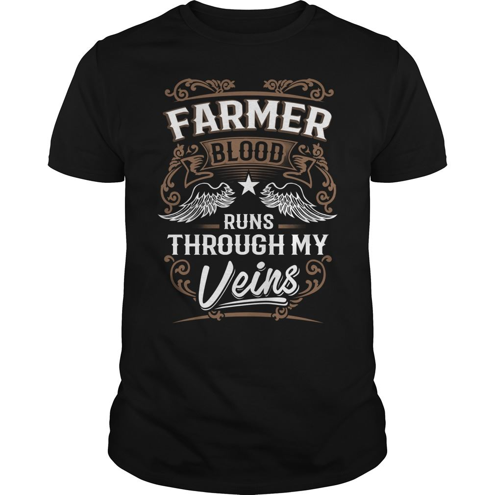Farmer Shirt Farmer Blood Runs Through My Veins Plus Size Up To 5xl