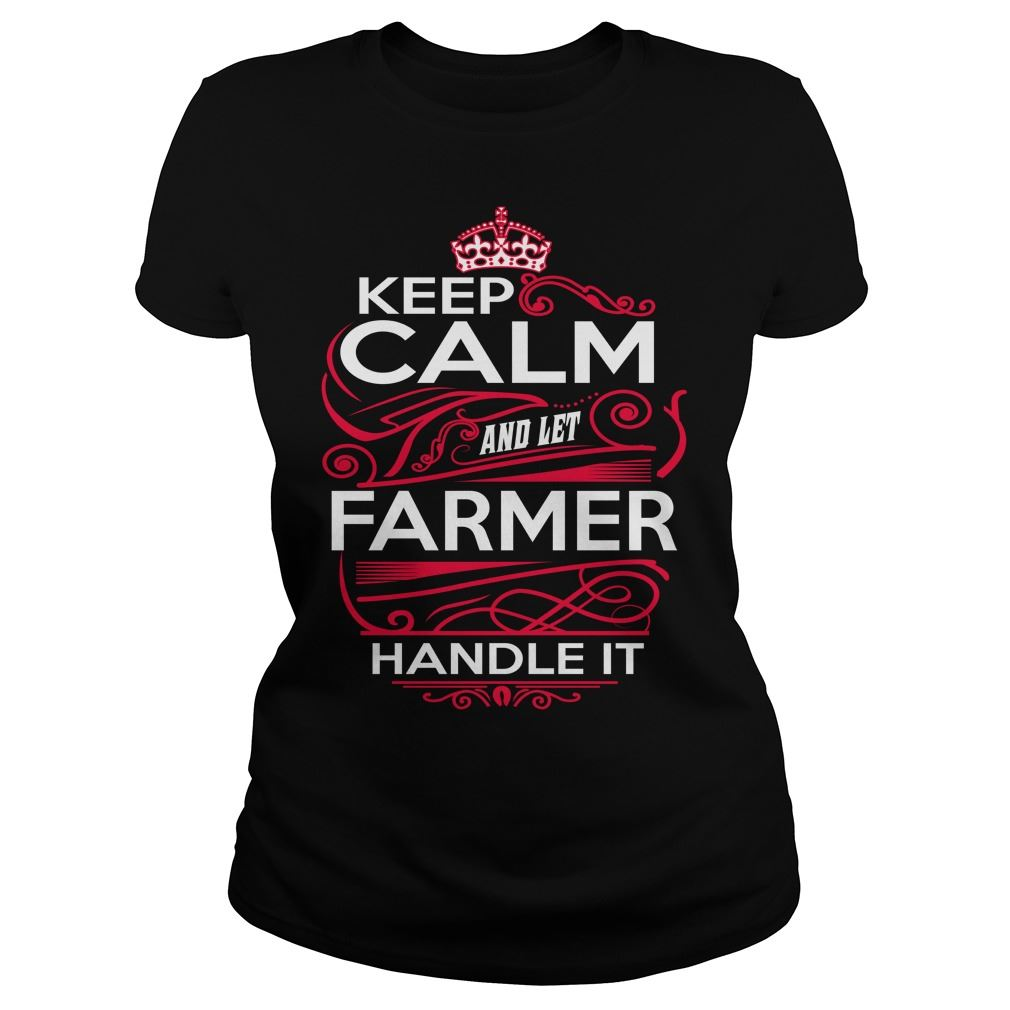 Keep Calm And Let Farmer Handle It Plus Size Up To 5xl