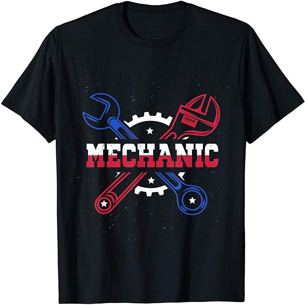Mechanic T-shirt Plus Size Up To 5xl