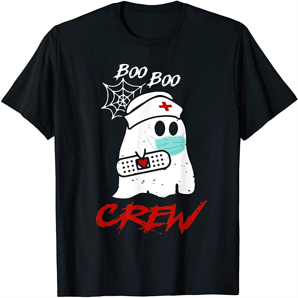 Boo Boo Crew Nurse Ghost Funny Halloween Costume Gift T-shirt Size Up To 5xl