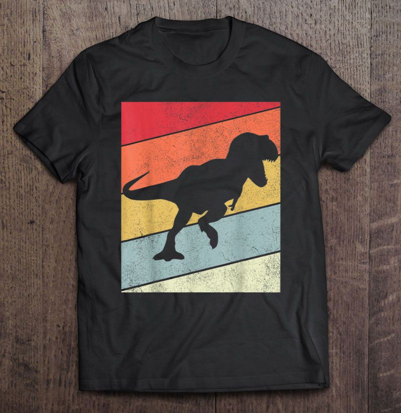 Dinosaur T-rex Silhouette Vintage Full Size Up To 5xl
