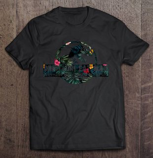 Dinosaurs Eat Man Woman Inherits The Earth T-rex Floral Black Version Full Size Up To 5xl Size Up To 5xl