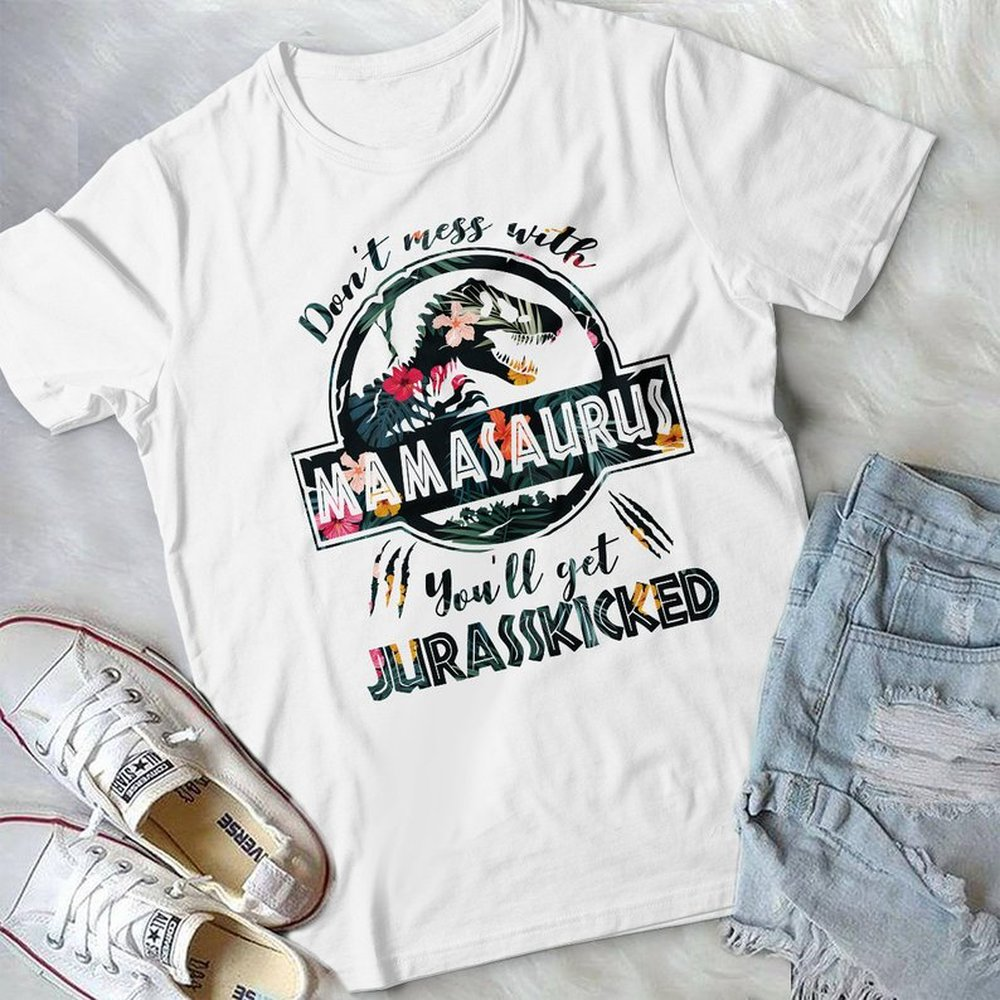 Game-of-thrones-mamasaurus-flower-mother-s-day-shirt-jurassic-park-t-shirt-dinosaur-birthday-mom Plus Size Up To 5xl Size Up To 5xl