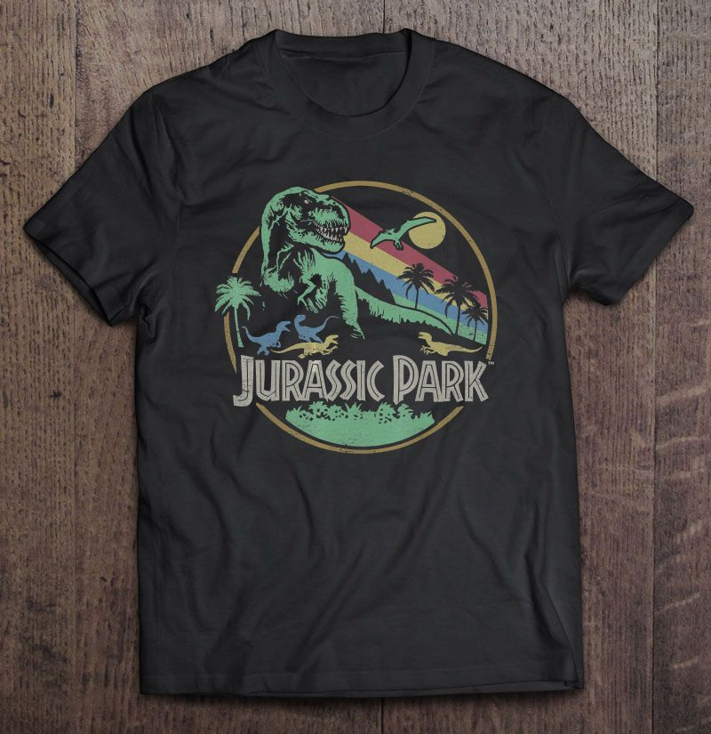 Jurassic Park Circle Logo Vintage Version Full Size Up To 5xl Size Up To 5xl
