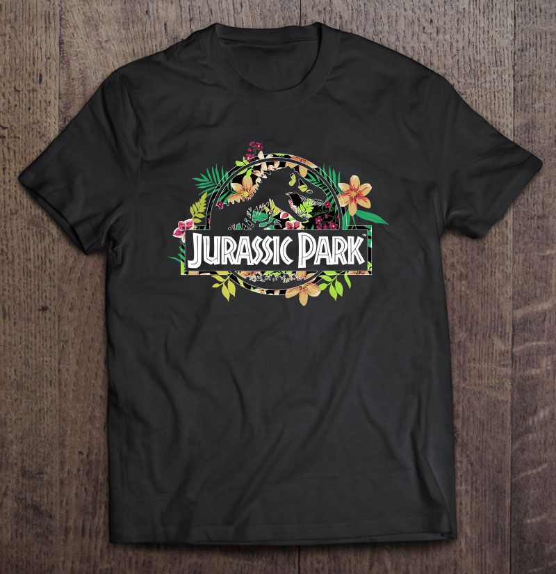 Jurassic Park Floral Version Plus Size Up To 5xl