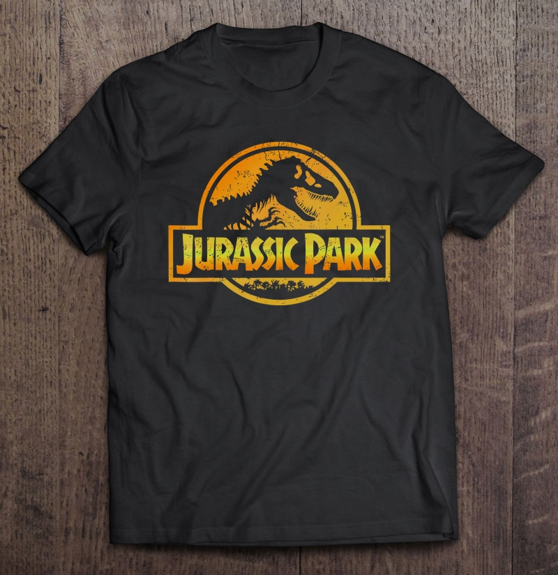 Jurassic Park Orange Yellow Gradient Logo Graphic Plus Size Up To 5xl Size Up To 5xl