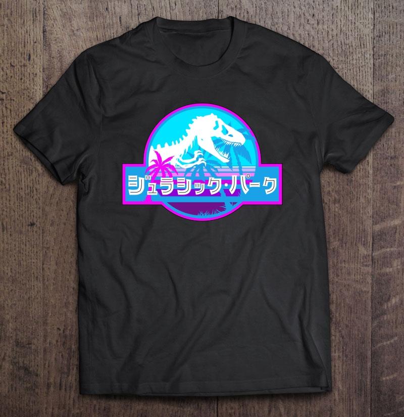 Jurassic Park Vaporwave Japanese Plus Size Up To 5xl Plus Size Up To 5xl