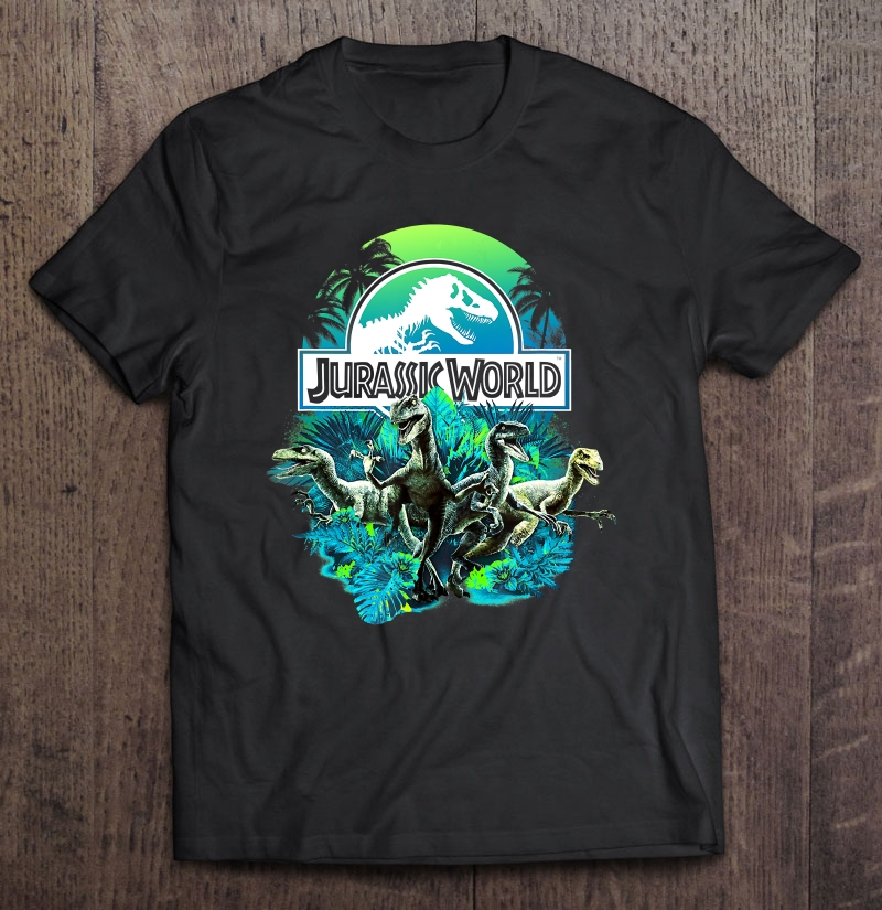 Jurassic World Blue Green Jungle Velociraptor Attack Size Up To 5xl Size Up To 5xl