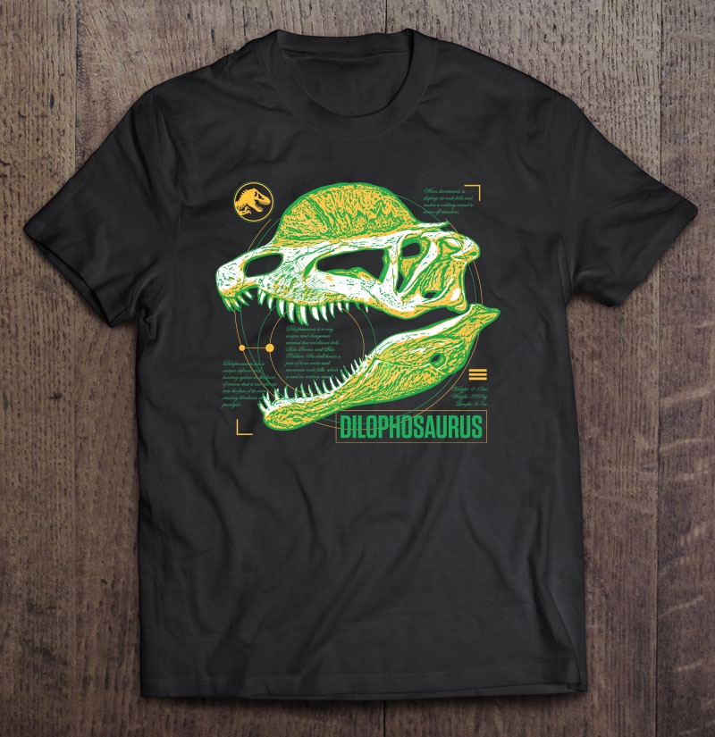 Jurassic World Fallen Kingdom Dilophosaurus Fact Plus Size Up To 5xl Size Up To 5xl