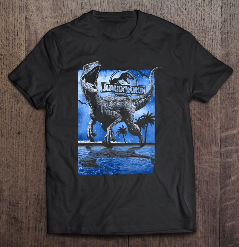 Jurassic World Raptor Moon Light Logo Graphic Full Size Up To 5xl Size Up To 5xl