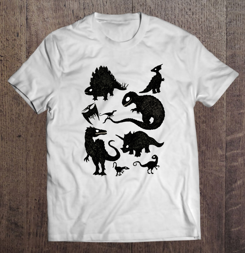 Silhouetted Dinosaurs Plus Size Up To 5xl Size Up To 5xl