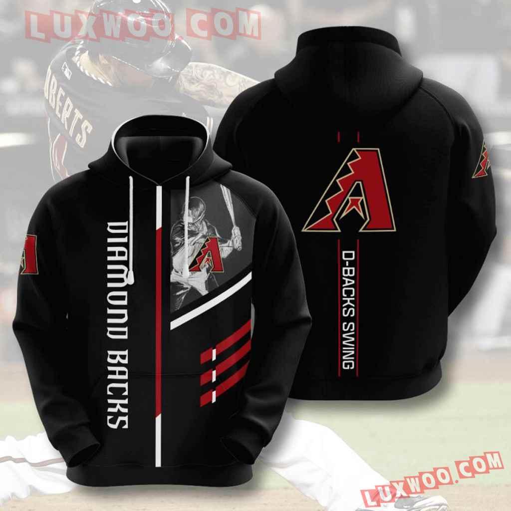 Mlb Arizona Diamondbacks 3d Hoodies Printed Zip Hoodies Sweatshirt Jacket V2