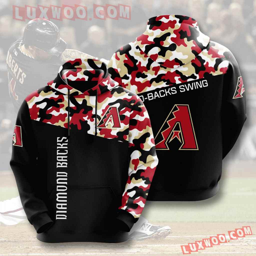 Mlb Arizona Diamondbacks 3d Hoodies Printed Zip Hoodies Sweatshirt Jacket V3