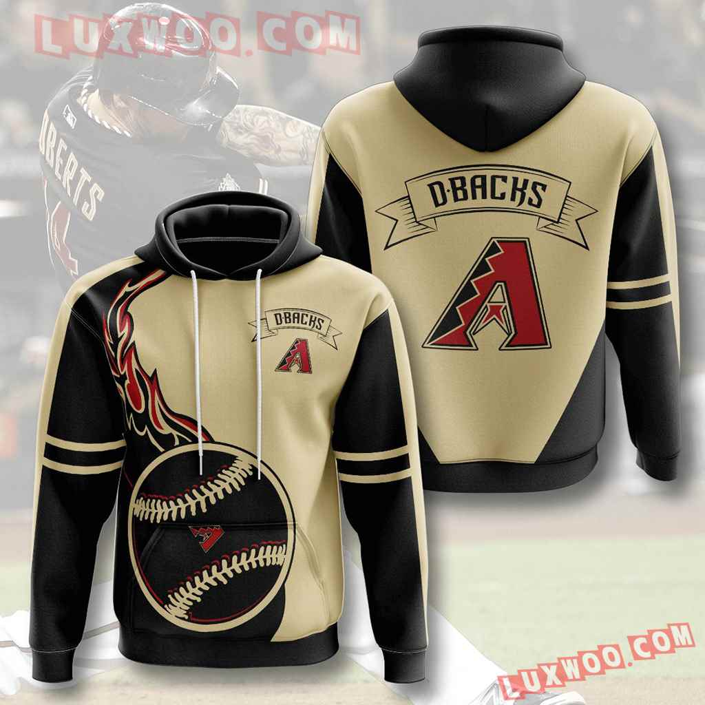 Mlb Arizona Diamondbacks 3d Hoodies Printed Zip Hoodies Sweatshirt Jacket V4