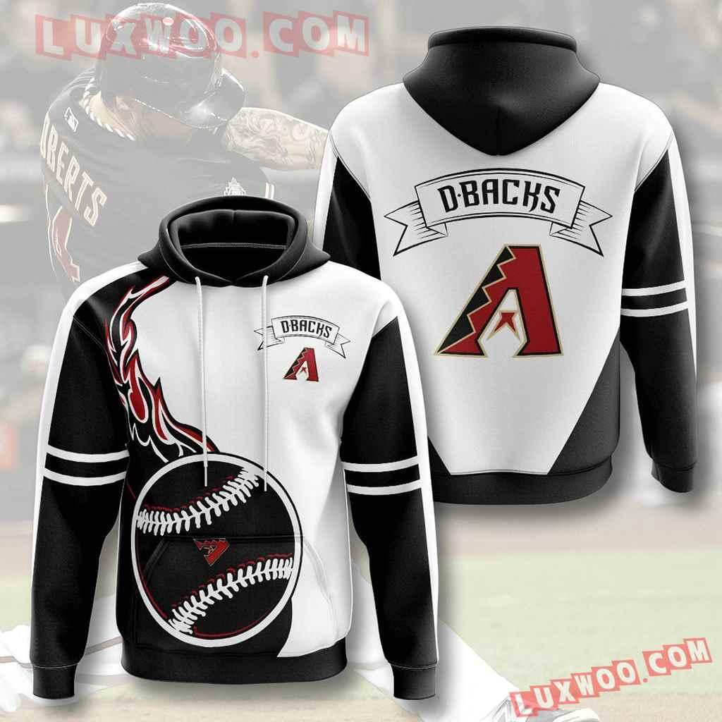 Mlb Arizona Diamondbacks 3d Hoodies Printed Zip Hoodies Sweatshirt Jacket V5