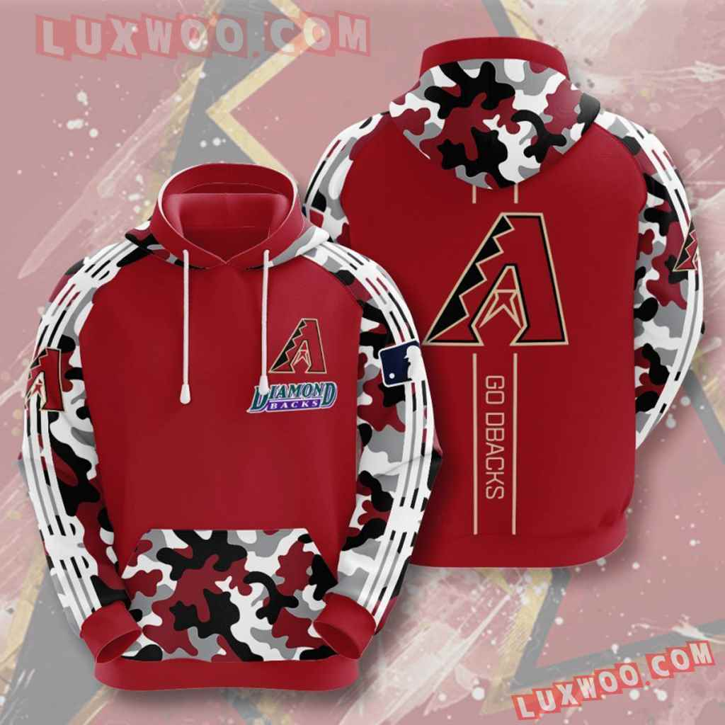 Mlb Arizona Diamondbacks 3d Hoodies Printed Zip Hoodies Sweatshirt Jacket V6