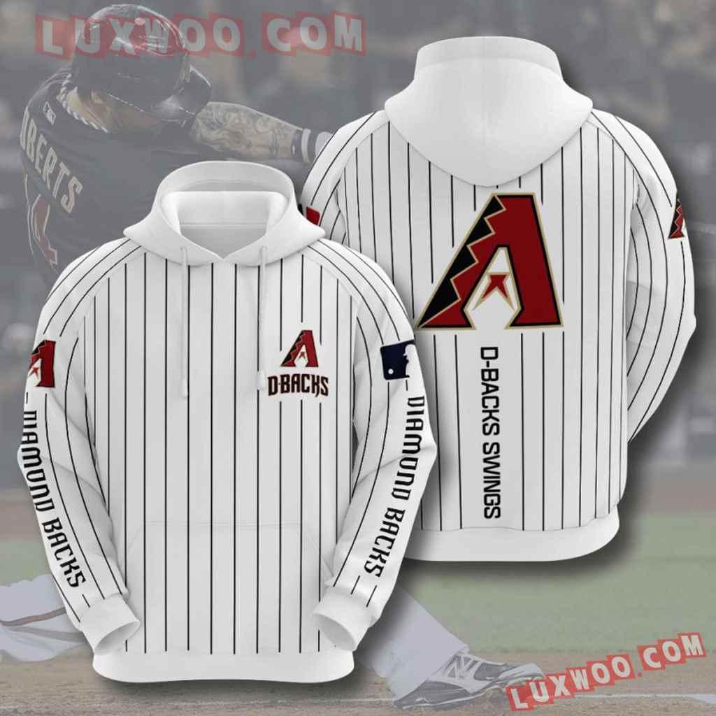 Mlb Arizona Diamondbacks 3d Hoodies Printed Zip Hoodies Sweatshirt Jacket V7