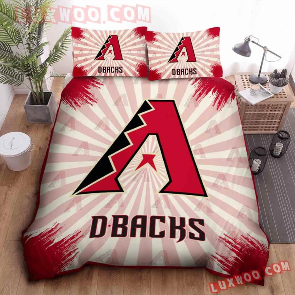 Mlb Arizona Diamondbacks 3d Quilt Bedding Set V1