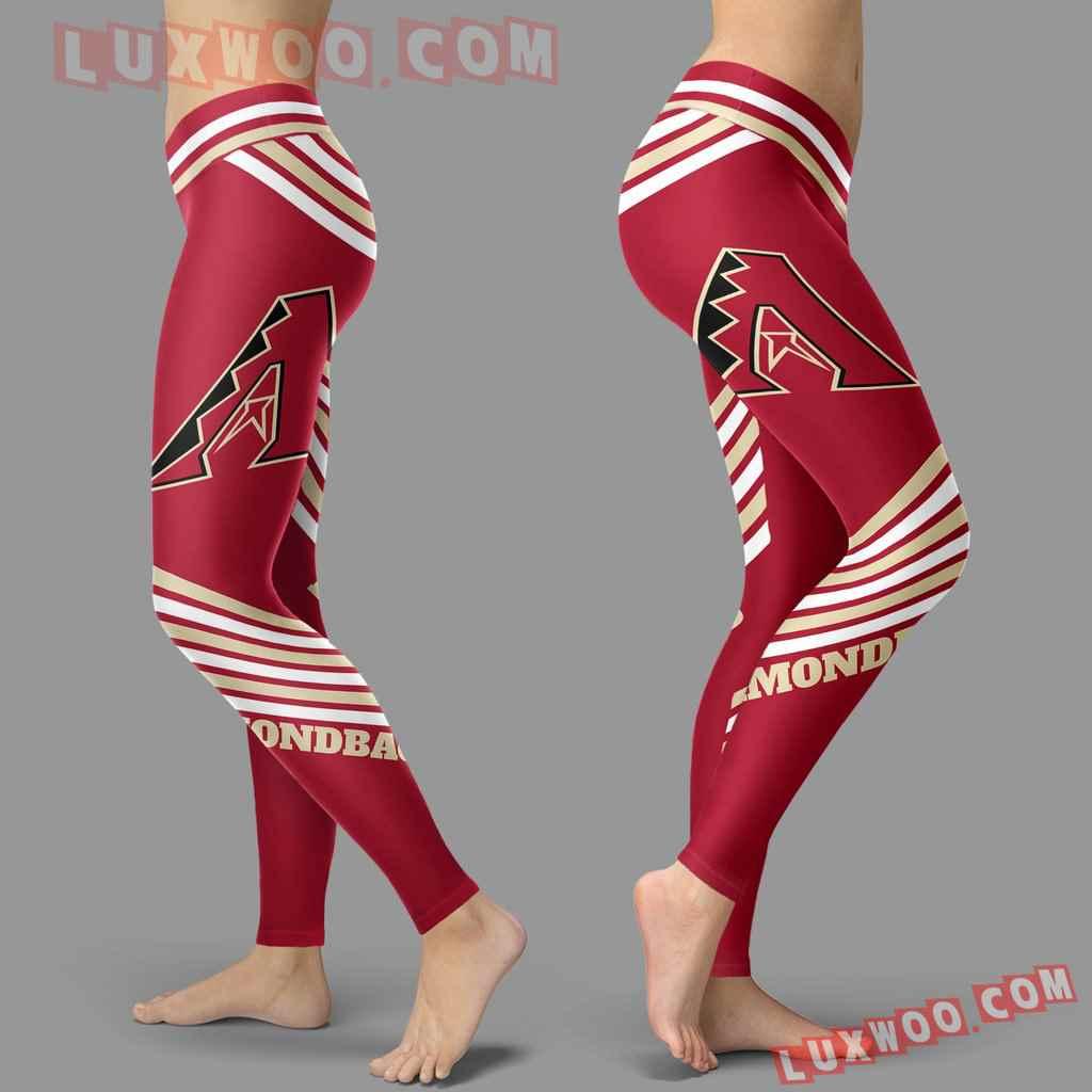 Mlb Arizona Diamondbacks Leggings 3d Custom Print Leggings Sport V2