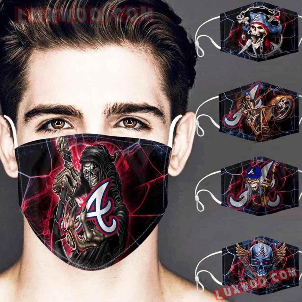 Mlb Atlanta Braves 3d Face Mask Combo 5 V1