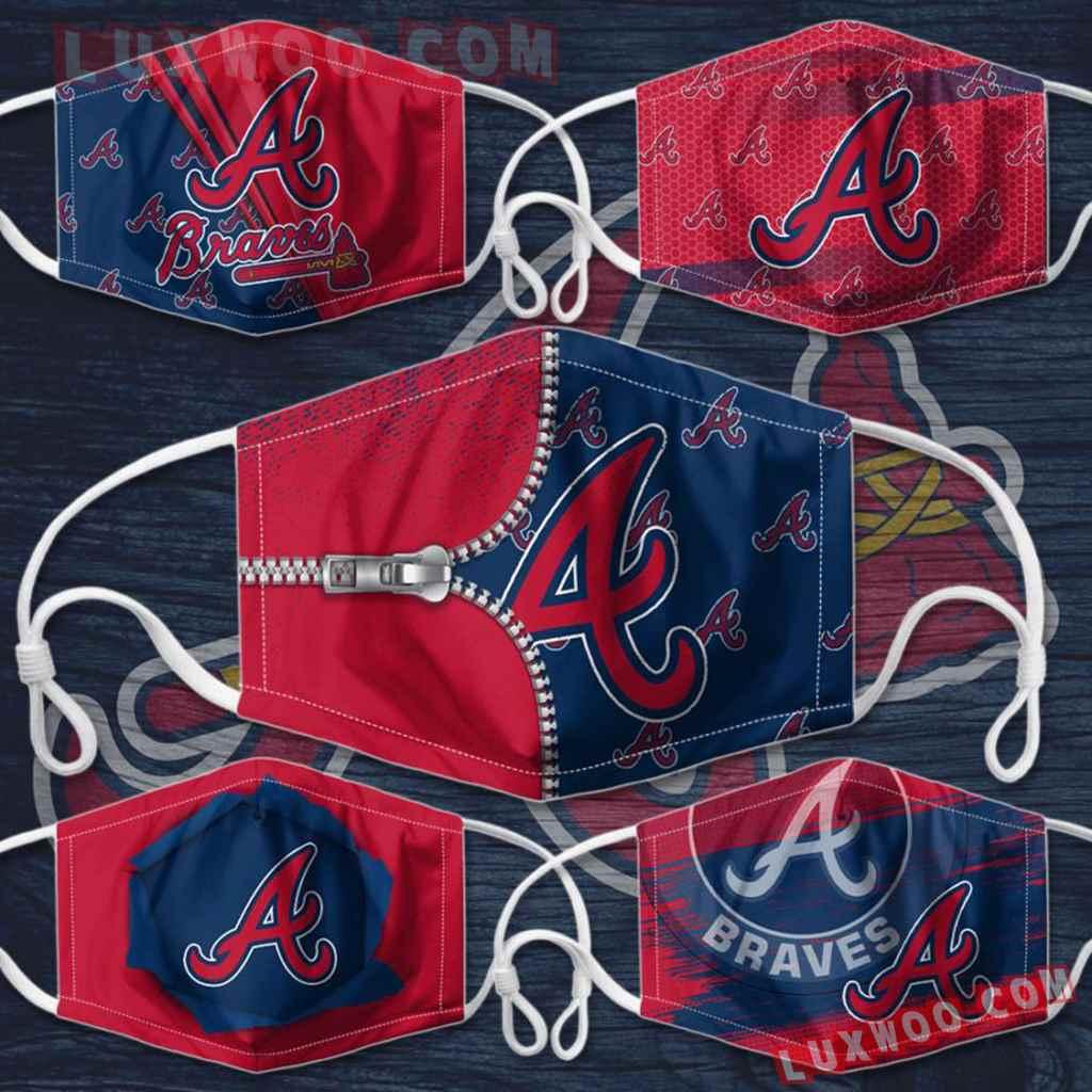 Mlb Atlanta Braves 3d Face Mask Combo 5 V3