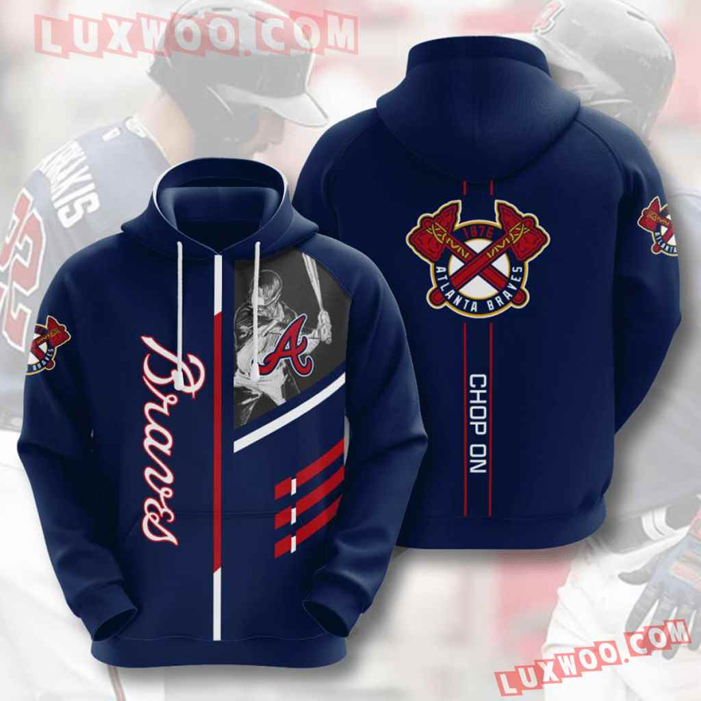 Mlb Atlanta Braves 3d Hoodies Printed Zip Hoodies Sweatshirt Jacket V1