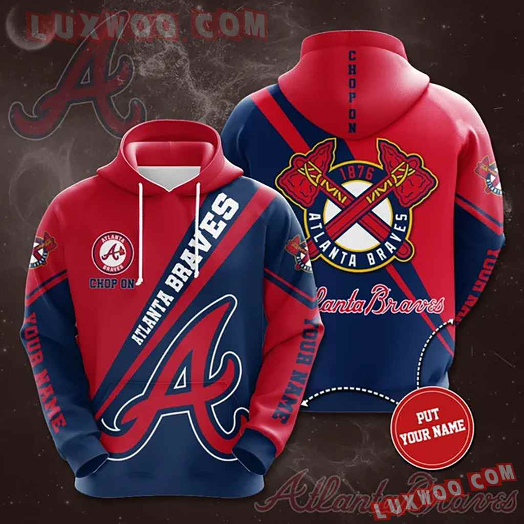 Mlb Atlanta Braves 3d Hoodies Printed Zip Hoodies Sweatshirt Jacket V10