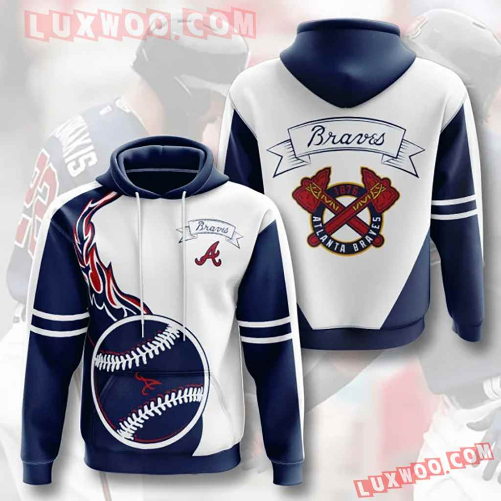 Mlb Atlanta Braves 3d Hoodies Printed Zip Hoodies Sweatshirt Jacket V11