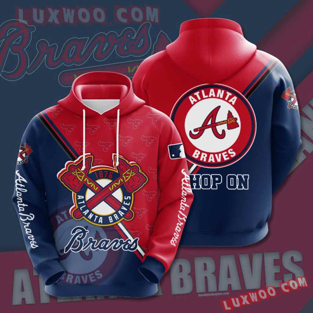 Mlb Atlanta Braves 3d Hoodies Printed Zip Hoodies Sweatshirt Jacket V16