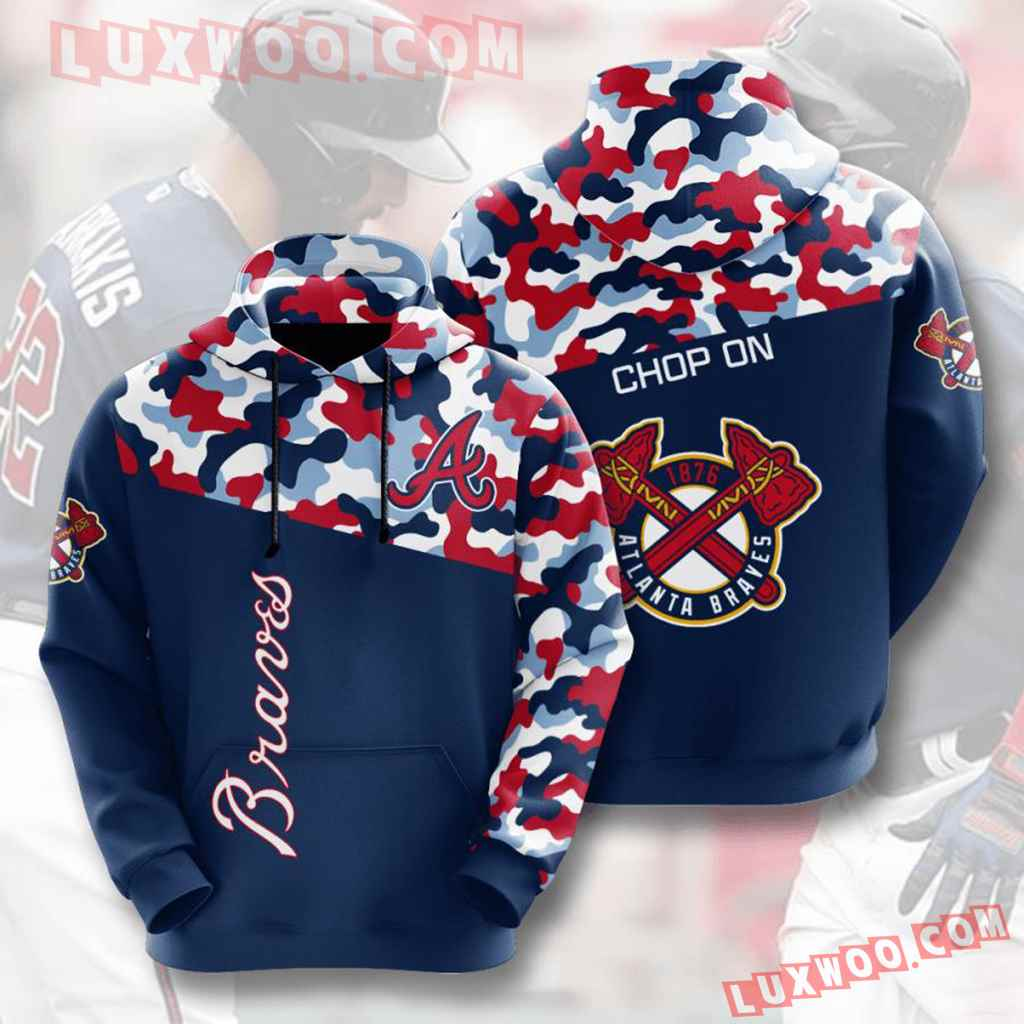 Mlb Atlanta Braves 3d Hoodies Printed Zip Hoodies Sweatshirt Jacket V2