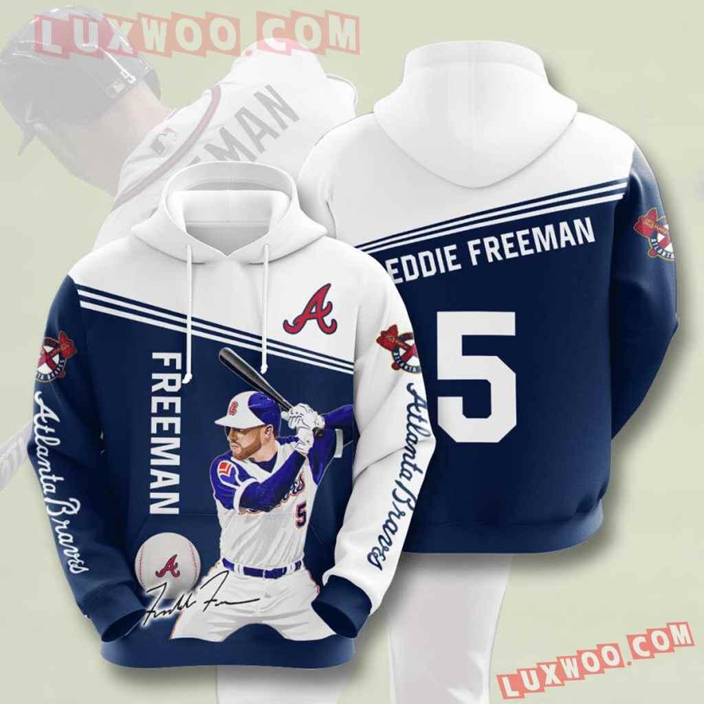 Mlb Atlanta Braves 3d Hoodies Printed Zip Hoodies Sweatshirt Jacket V4
