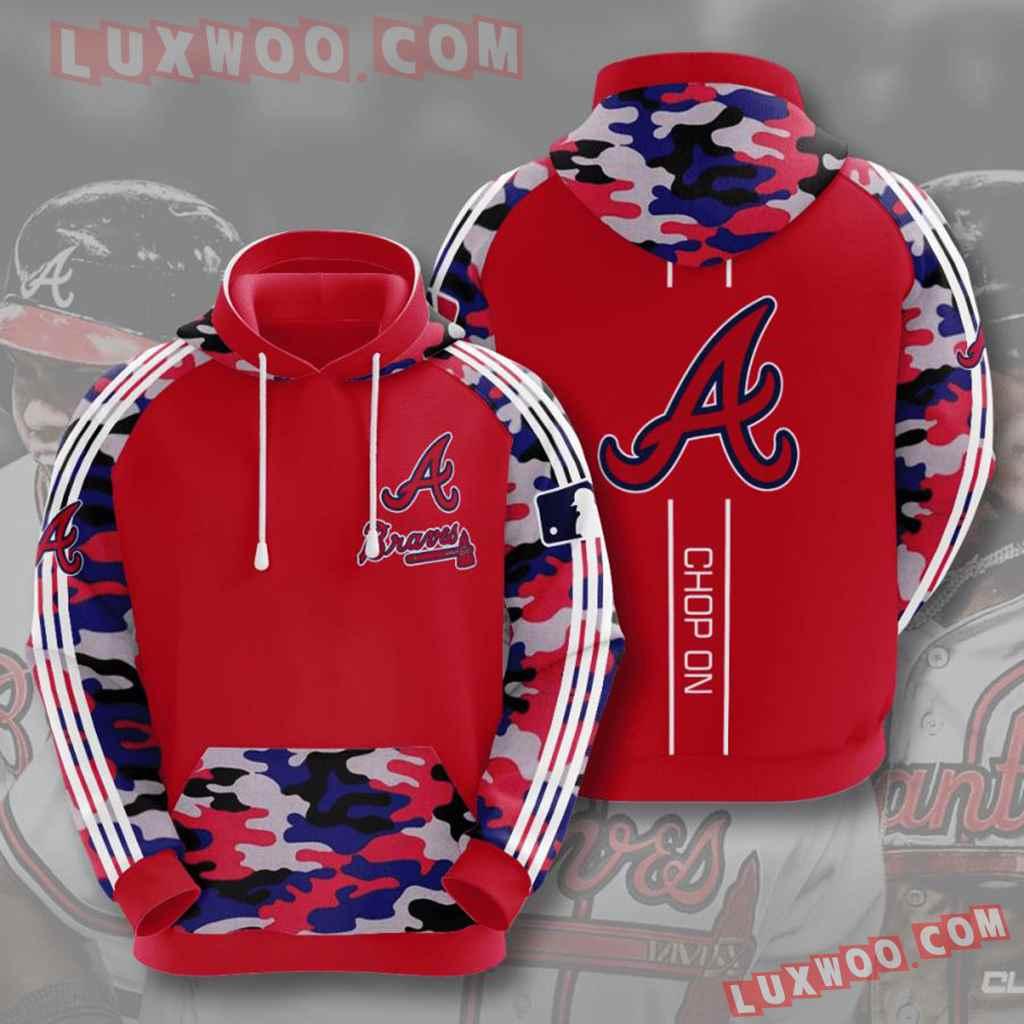Mlb Atlanta Braves 3d Hoodies Printed Zip Hoodies Sweatshirt Jacket V5