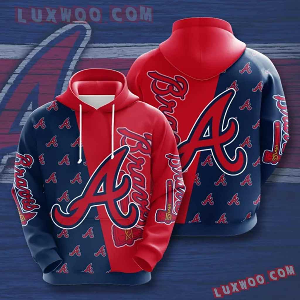 Mlb Atlanta Braves 3d Hoodies Printed Zip Hoodies Sweatshirt Jacket V9