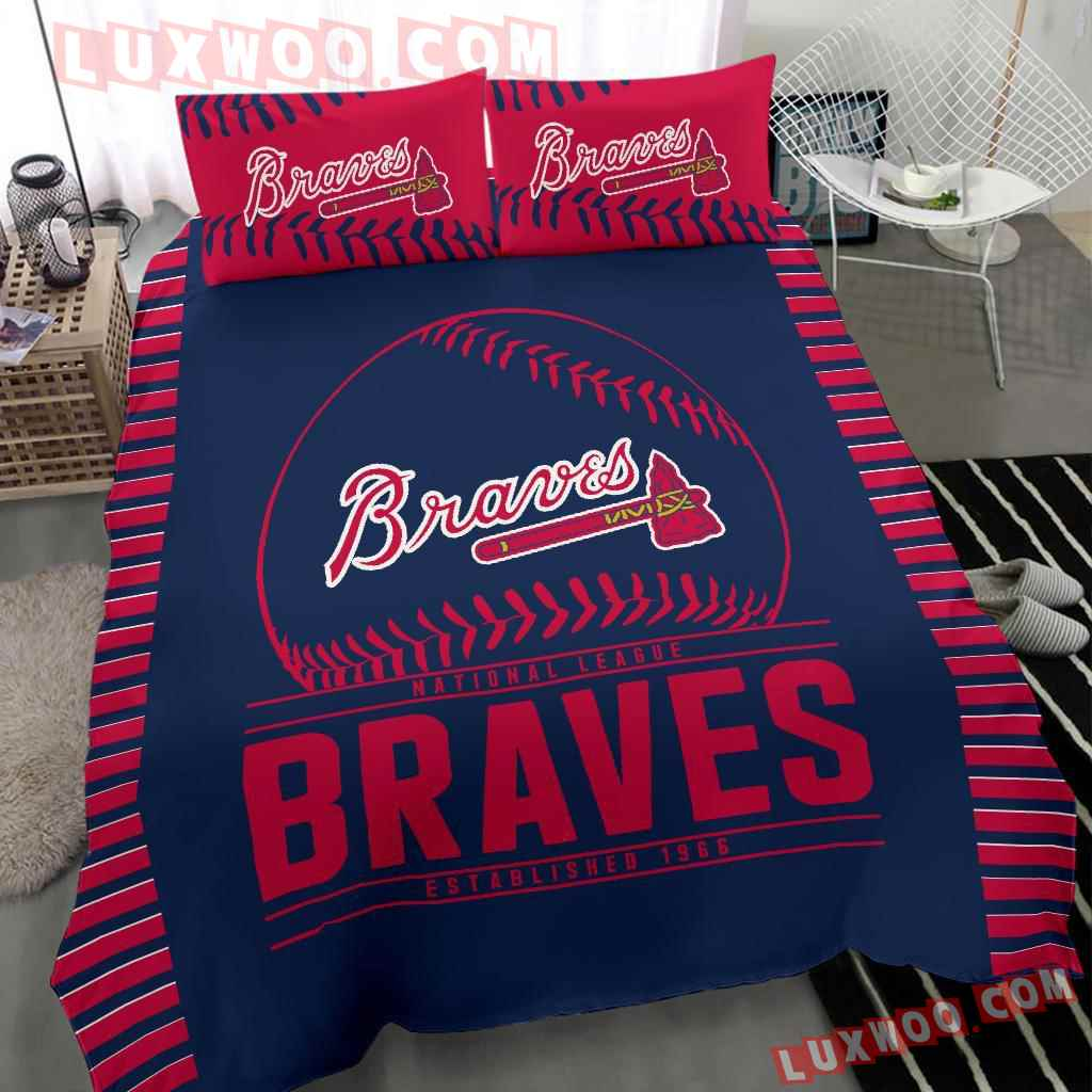 Mlb Atlanta Braves 3d Quilt Bedding Set V1