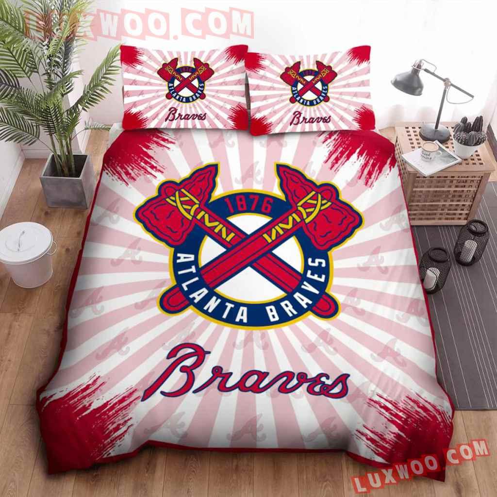 Mlb Atlanta Braves 3d Quilt Bedding Set V2