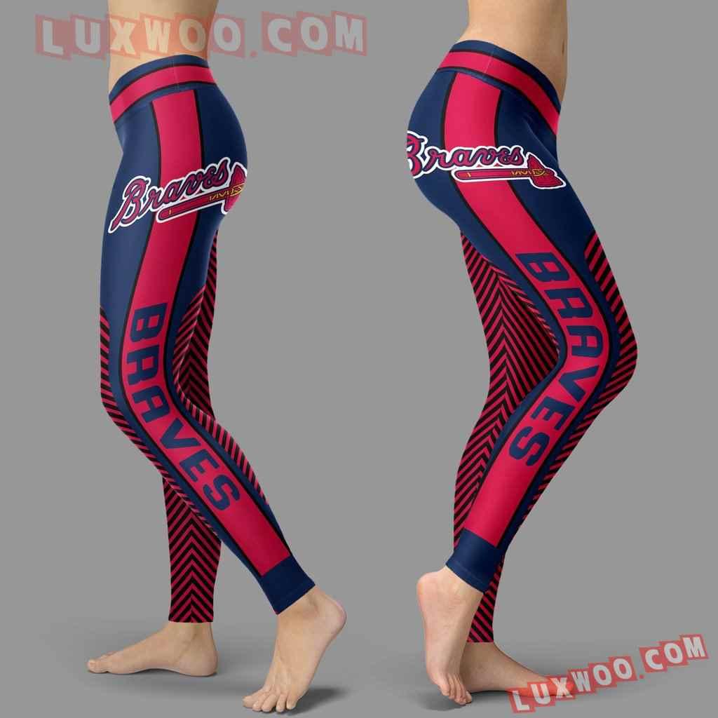 Mlb Atlanta Braves Leggings 3d Custom Print Leggings Sport V1