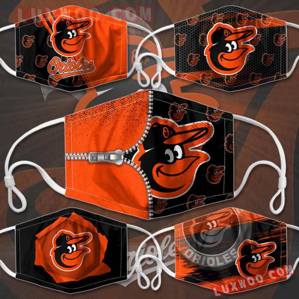Mlb Baltimore Orioles 3d Face Mask Combo 5 V1