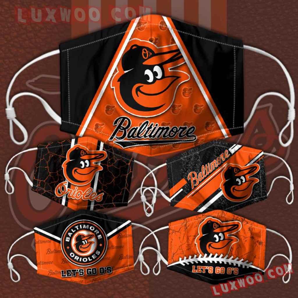 Mlb Baltimore Orioles 3d Face Mask Combo 5 V2