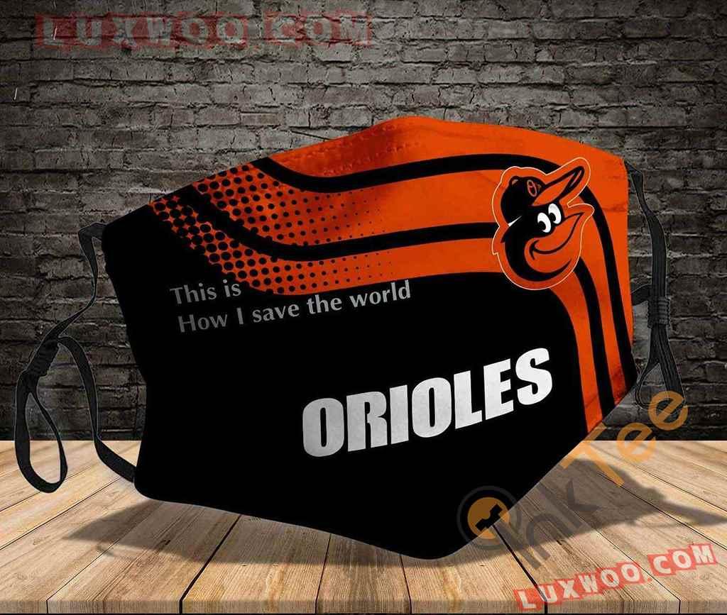 Mlb Baltimore Orioles 3d Face Mask V1