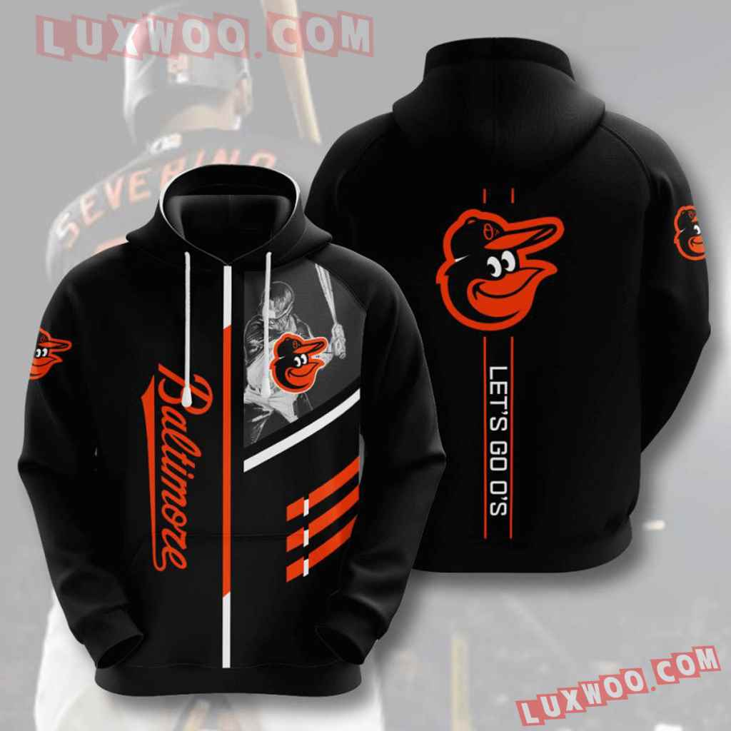 Mlb Baltimore Orioles 3d Hoodies Printed Zip Hoodies Sweatshirt Jacket V1