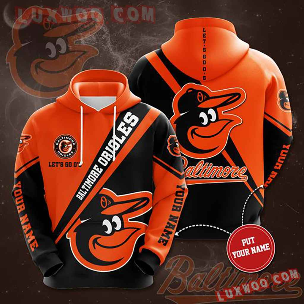 Mlb Baltimore Orioles 3d Hoodies Printed Zip Hoodies Sweatshirt Jacket V10