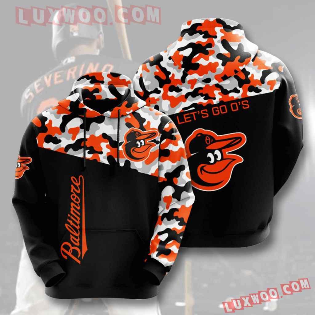 Mlb Baltimore Orioles 3d Hoodies Printed Zip Hoodies Sweatshirt Jacket V2