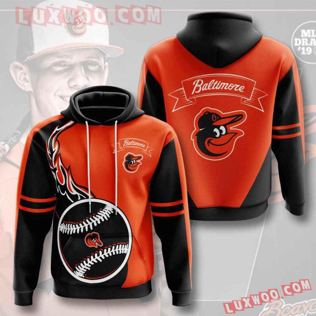 Mlb Baltimore Orioles 3d Hoodies Printed Zip Hoodies Sweatshirt Jacket V3