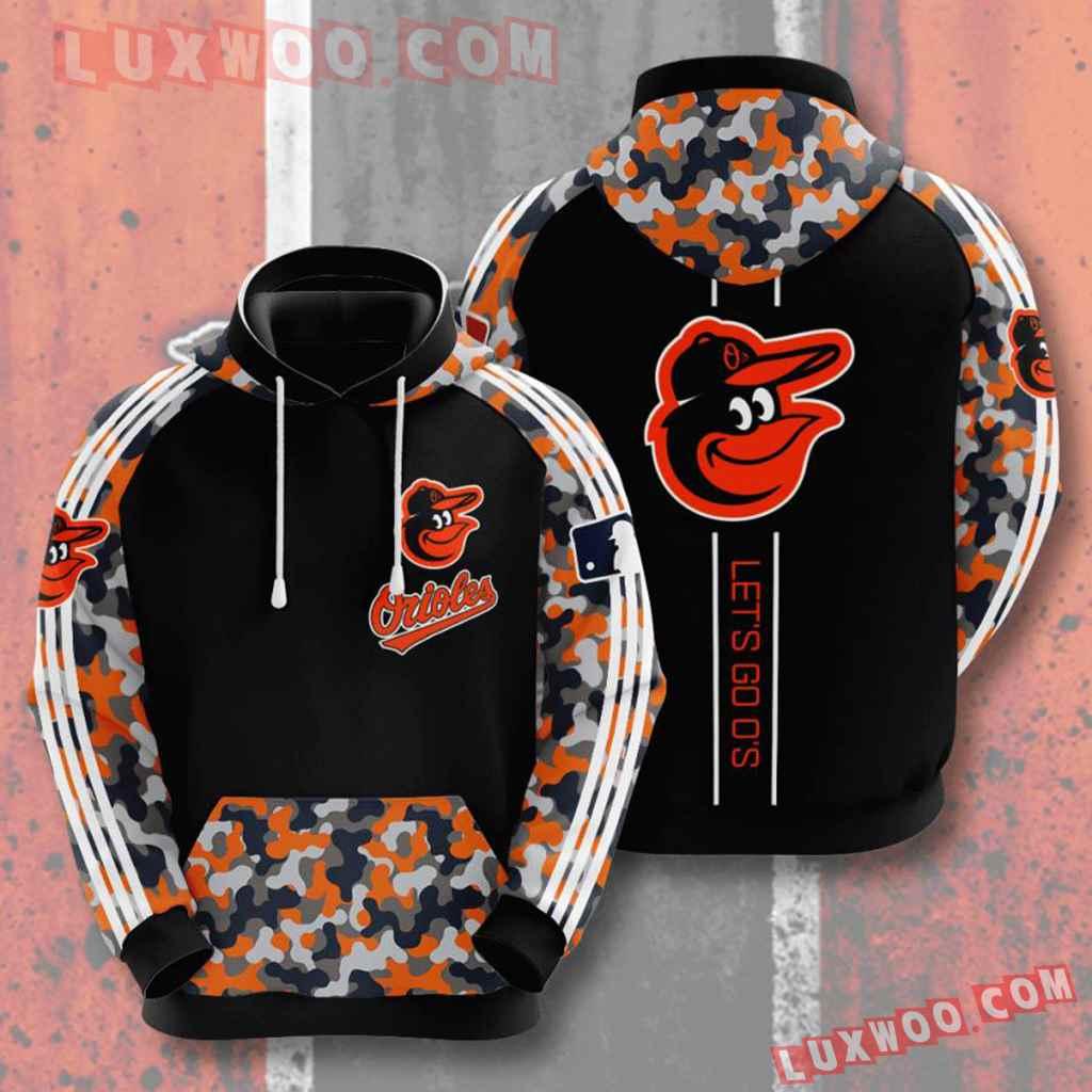Mlb Baltimore Orioles 3d Hoodies Printed Zip Hoodies Sweatshirt Jacket V5