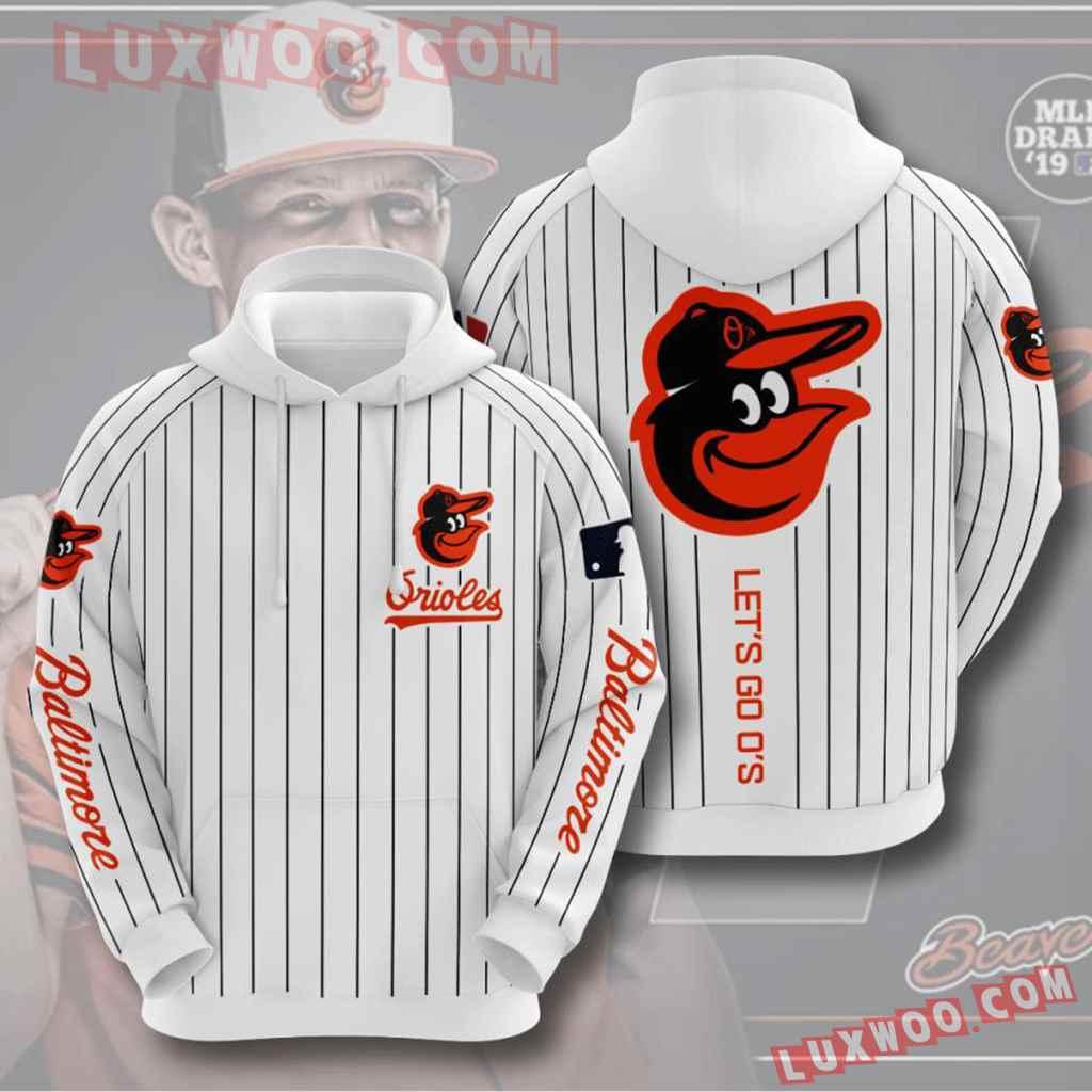 Mlb Baltimore Orioles 3d Hoodies Printed Zip Hoodies Sweatshirt Jacket V6