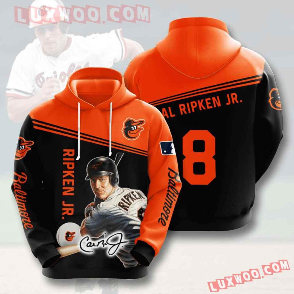 Mlb Baltimore Orioles 3d Hoodies Printed Zip Hoodies Sweatshirt Jacket V7