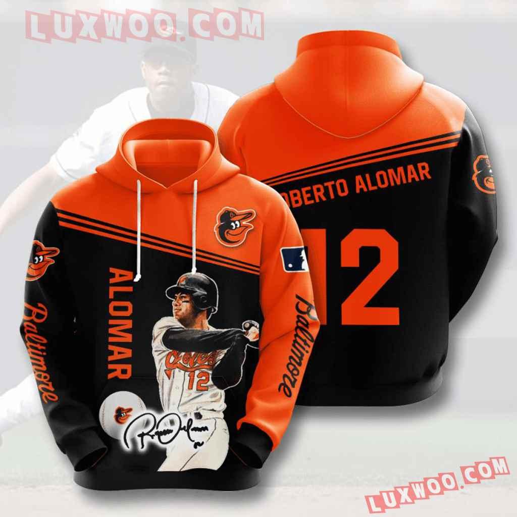 Mlb Baltimore Orioles 3d Hoodies Printed Zip Hoodies Sweatshirt Jacket V8