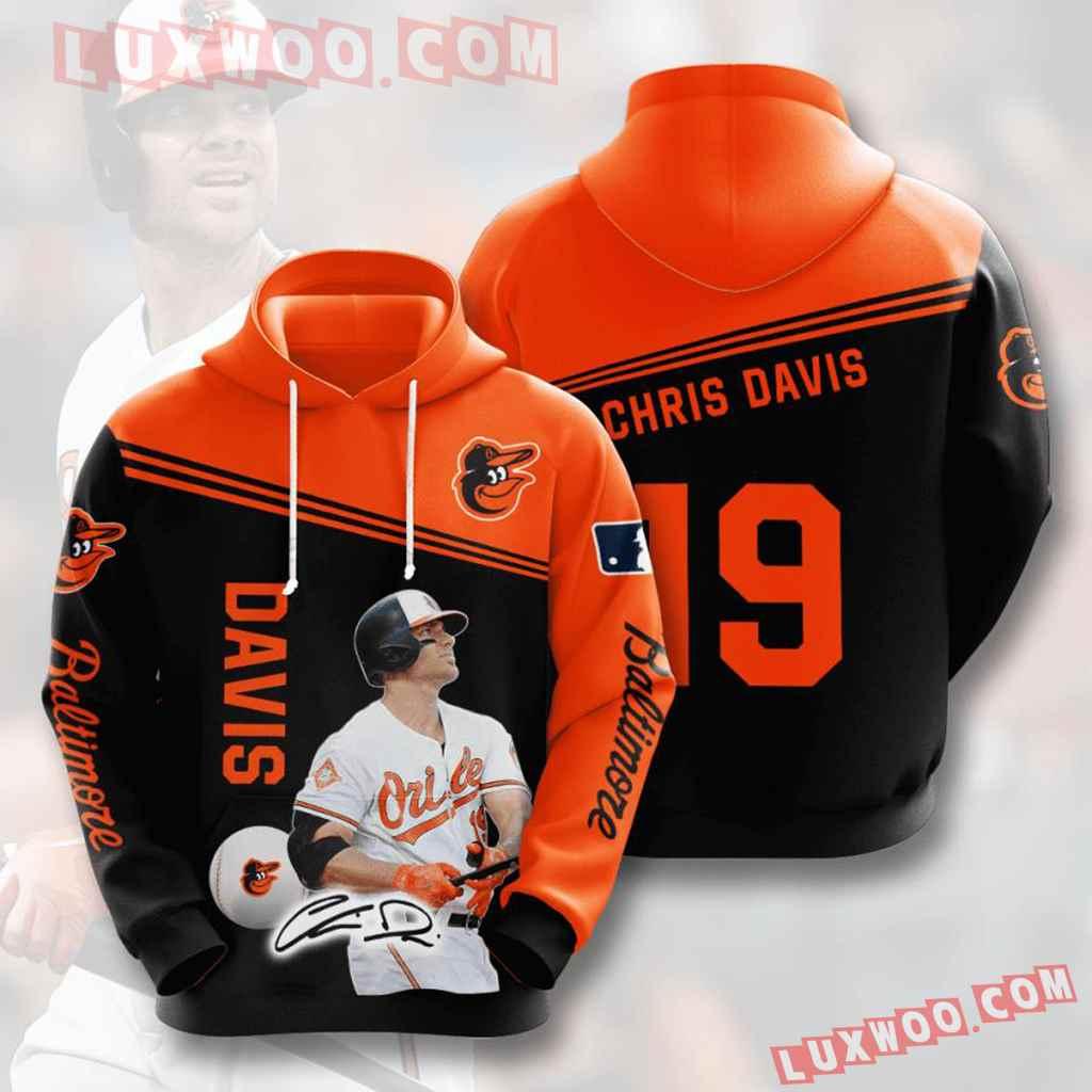 Mlb Baltimore Orioles 3d Hoodies Printed Zip Hoodies Sweatshirt Jacket V9