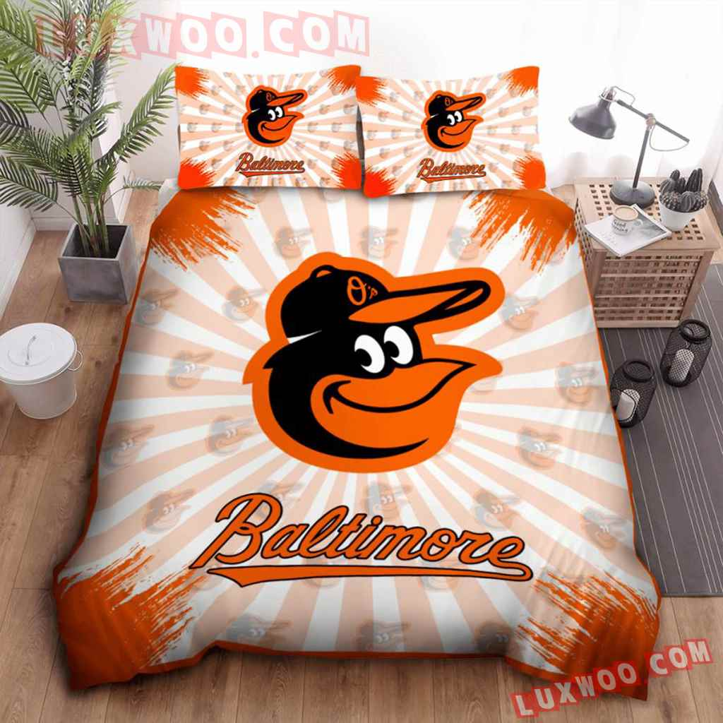 Mlb Baltimore Orioles 3d Quilt Bedding Set V1