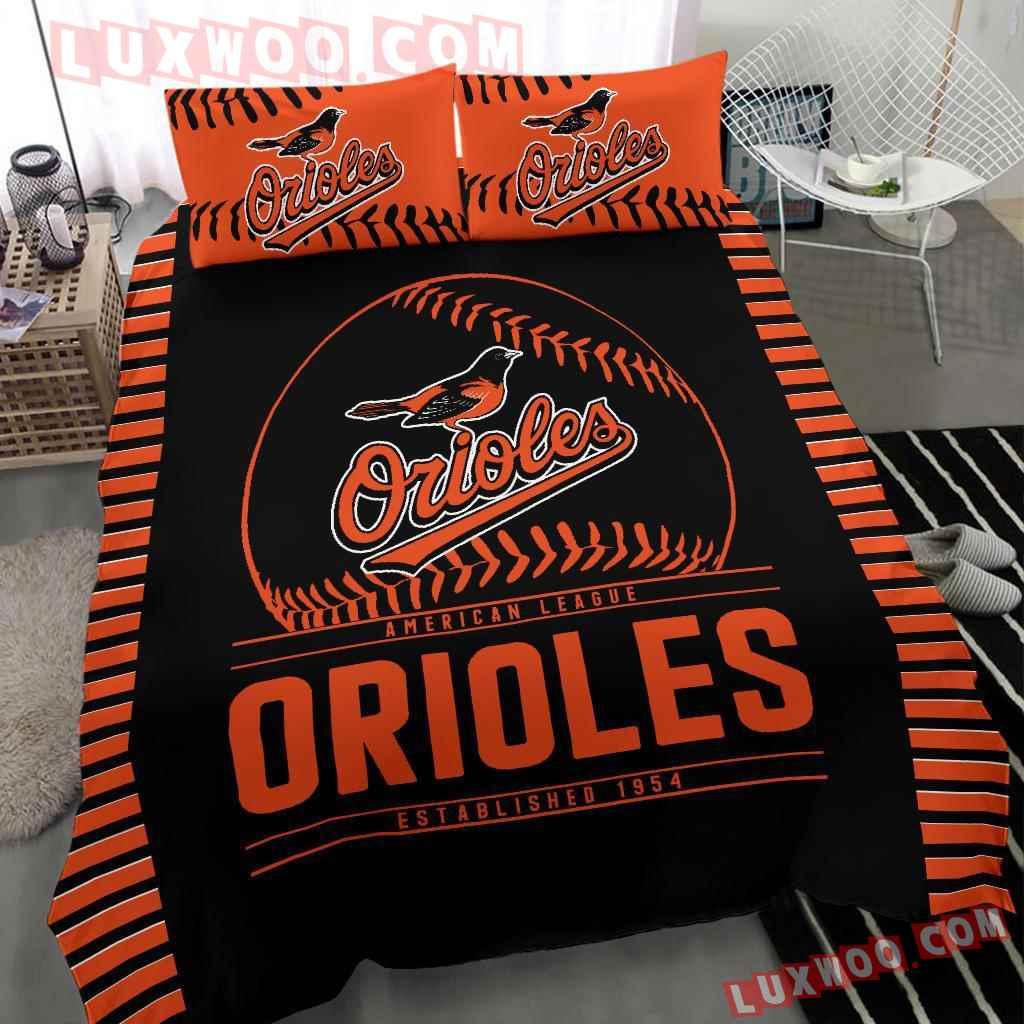 Mlb Baltimore Orioles 3d Quilt Bedding Set V2